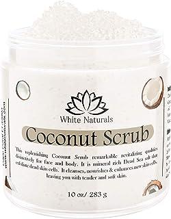 CHRISTMAS SALE! Organic Coconut Scrub, Exfoliating Body Scrub, Face and Body Coconut Scrub, Pure Coconut Oil Scrub with Sh...