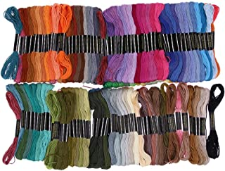 Embroidery Thread - 150 Pieces Different Colors Embroidery Thread Handmade Cross Stitch Polyester Floss Sewing Skeins - Isacord Rayon Glitter Rainbow Machine Dye Turquoise Pe770 Cardboard Hand