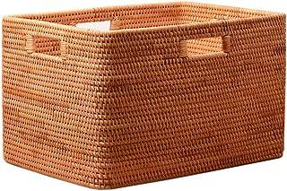 MWG Panier à Linge rectangulaire, boîte de Rangement Jouets pour vêtements Mats, Panier à Linge en rotin Extra-Large avec ...
