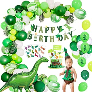 MMTX Birthday Party Decorations Kit, Jungle Dinosaur Kid's Party Supplies World Jurassic Style Dinosaur Happy Birthday Ban...