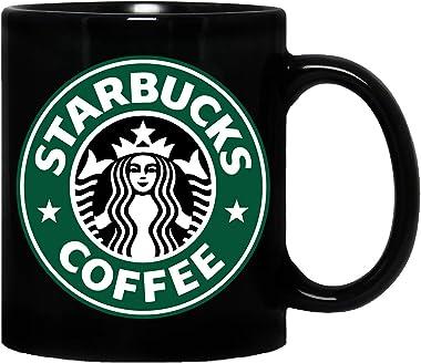 Mug Morning Starbucks Mug | Starbucks Cup | Starbucks Coffee Mug | Starbucks Coffee Cup Ceramic Coffee Mug - Black, 325ml