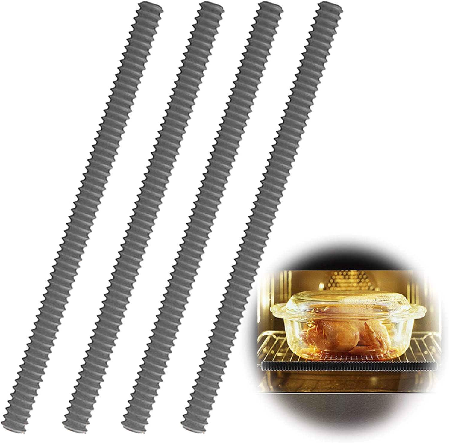 Oven Rack Protectors Mail order - 4 Resistant Heat Guard Silicone Beauty products Pack