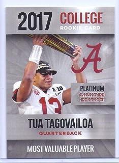 """Limited Edition TUA TAGOVAILOA 2017"""" Platinum 1ST Ever Printed MVP College Rookie Card! Alabama!"""