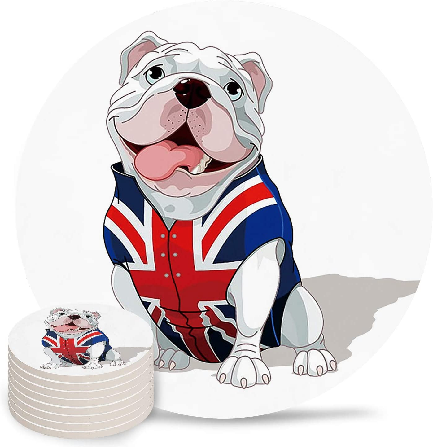 Independence Selling Day Coasters for Drinks Dog Absorbent Cute Ceramic Outlet SALE