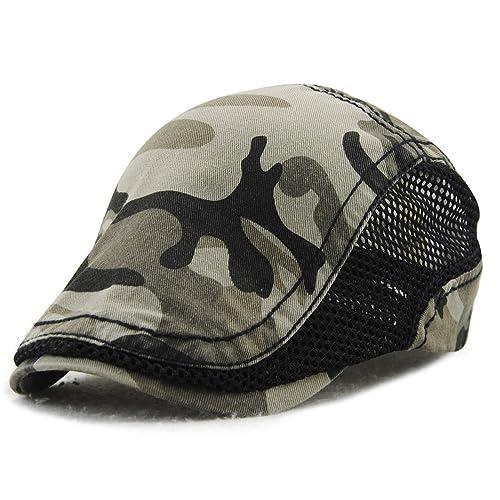 Sombrero de pico de pato de algodón Tapa Plana taxista la tapa exterior ajustable unisex de