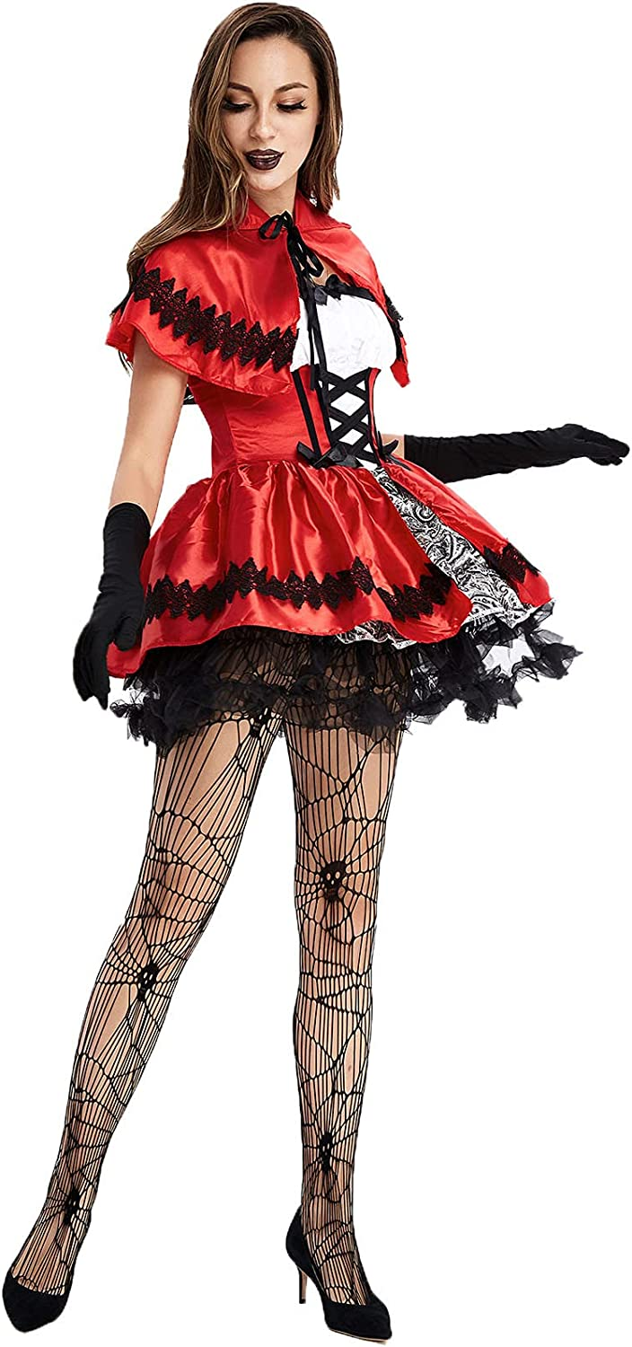 Women's Gothic Red Riding Hood Popular shop is the lowest price challenge Costume Renaissance excellence Dress