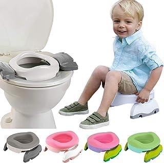 おまる 補助便座 携帯トイレ 1台で3役! 災害 トイレトレーニング 折りたたみ ポテットプラス バリューセット (ピンク/ピンク)