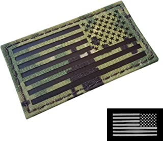 AOR2 IR USA American Reversed Flag 2x3.5 NWU Type III Navy Seals DEVGRU Stars and Stripes Morale Touch Fastener Patch