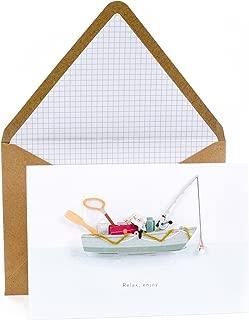 Hallmark Signature Birthday Greeting Card for Dad (Fishing Boat)