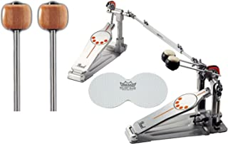 Pearl P932 Double Bass Drum Pedal w/ Extra Wood Beaters and a Bass Drum Patch