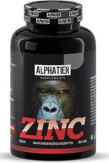 Zinktabletten hoge dosering + veganistisch - 365 zink tabletten 25mg - zinkschelaat zonder toevoegingen/magnesiumstearaat...