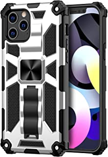 Saputu Case for iPhone 12 Pro Max, | Military Grade | Invisible Built-in Kickstand and Magnetic Metal Plate, Anti-Scratch ...