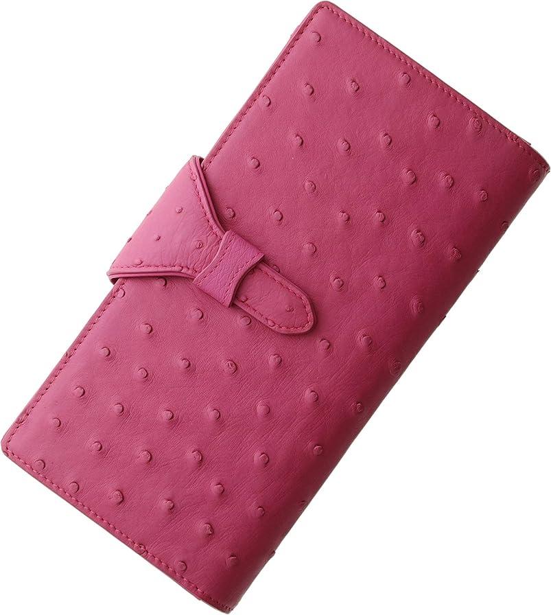舌光電倉庫オーストリッチ レザー ハーフポイント 多機能 婦人財布 レディース 長財布