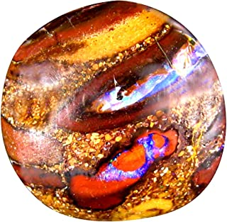 6.05 ct Fancy Cabochon Shape (12 x 12 mm) Play of Colors Australian Koroit Boulder Opal Natural Loose Gemstone