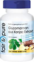 Glucomannan 500mg from konjac Root Extract Vegan Without Magnesium Stearate 120 glucomannan Capsules Estimated Price : £ 12,95