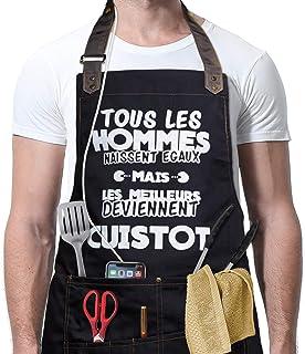 ABCTen Humoristique Femme Homme de Cuisine Tablier de Cuisine