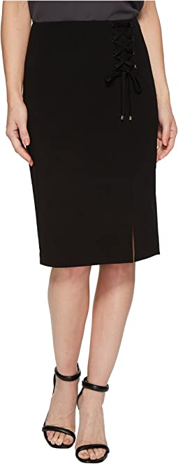 Calvin Klein - Crepe Skirt w/ Lacing