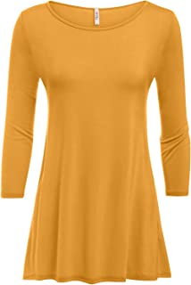 5345cd544e4 Simlu Womens Tunic Tops for Leggings Reg and Plus Size 3 4 Sleeve Tunic  Shirt