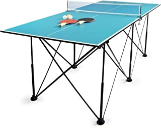 comprar comparacion Leomark Compact Table Tennis Mesa de Ping-Pong, Plegable Exterior Portatil fácil Montaje y Transporte Pelotas y Raquetas, ...