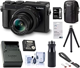 $939 » Panasonic Lumix LX100 II Digital Camera with 24-75mm Leica DC Vario-Summilux Lens Bundle with Charger Kit, Peak Design Wrist Strap, FotoPro UFO 2 Tripod, 64GB SD Card, Case, Hand Grip, Cleaning Kit