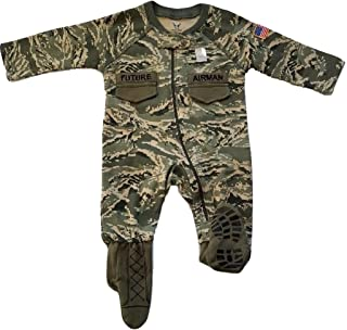 U.S. Air Force Baby Boys ABU Camo Crawler with Recruit Boots