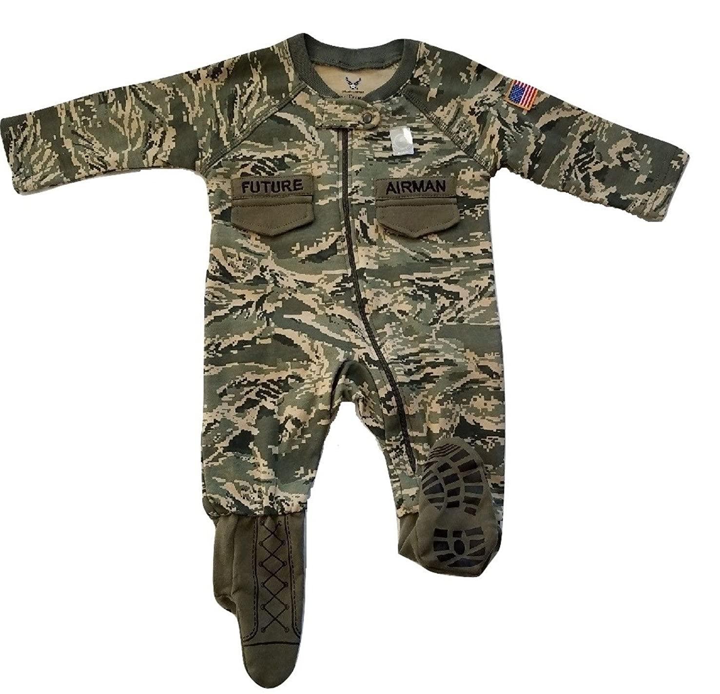 TC U.S. Air Force Baby Boys ABU Camo Crawler with Recruit Boots