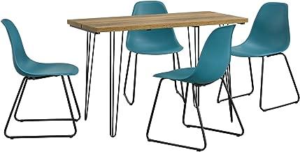 Table /à Manger Moderne Turquoise en.CASA Bois avec 4 chaises