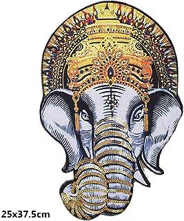 Bella Parches Apliques Patches Sticker Parche Termoadhesivo Lentejuelas Cuentas Elefante Grande Patch para Chaqueta Camiseta Ropa