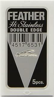 50 FEATHER Hi-Stainless Platinum Double Edge Razor Blades 5's