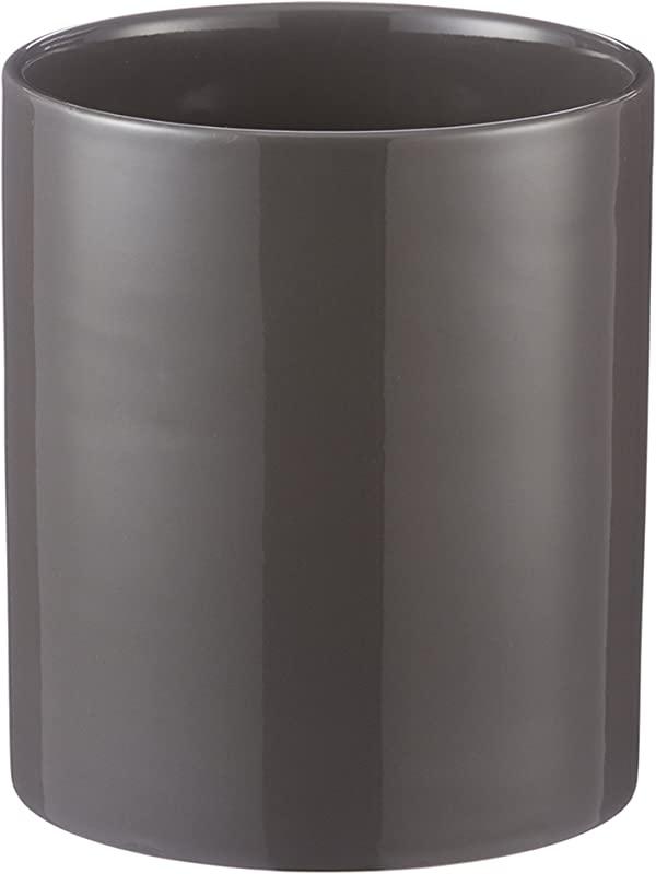 Mason Cash Classic Kitchen Utensil Jar Durable Stoneware Crock For Organizing Kitchen Tools 45 Fluid Ounces Dark Gray