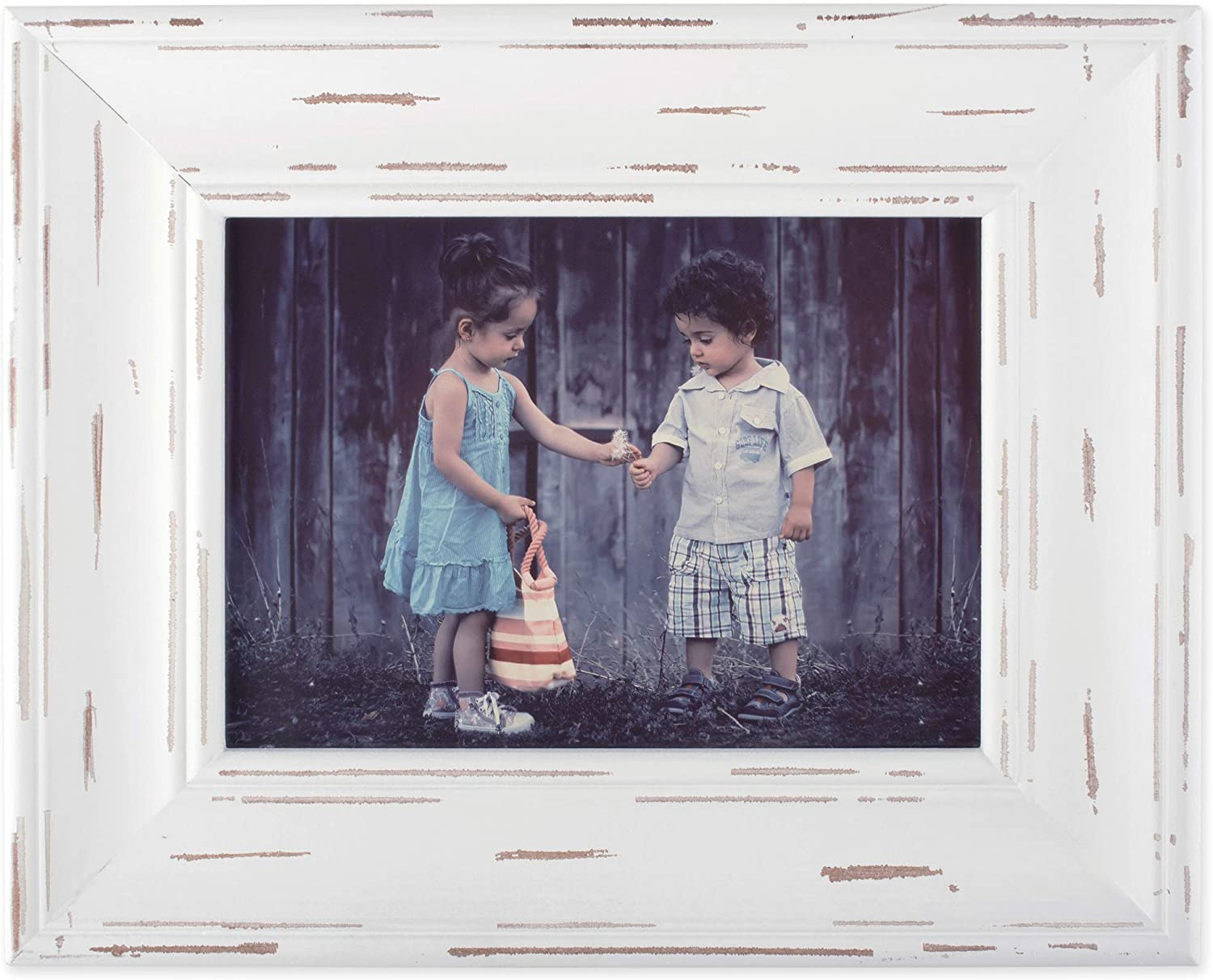 DII Distressed Wooden Picture Frame Collection Rustic Farmhouse