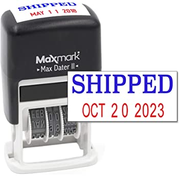 Self-Inking Date Stamp Daters Business Stamp H-4mm Great for Receiving Due Date