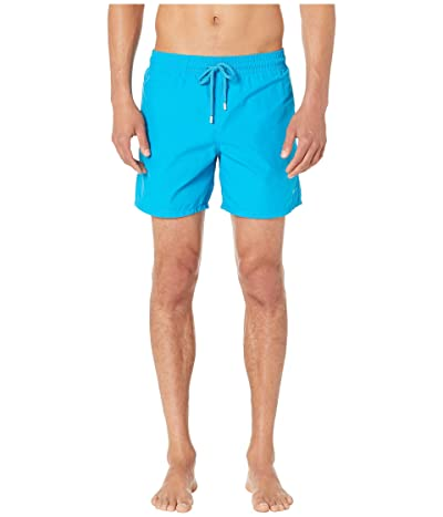 Vilebrequin Moorea Origami Turtles Aquareactive Swim Trunks (Blue Hawaii) Men