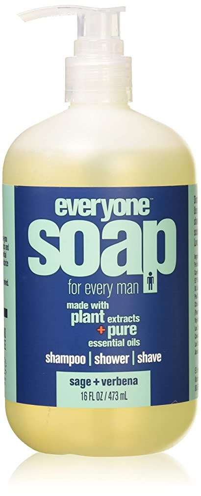 Everyone 3-in-1 Soap for Man, Sage and Verbena, 16 Ounce