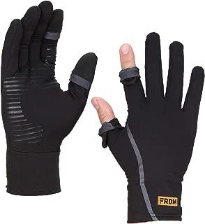FRDM Convertible Liner Gloves- Lightweight Touchscreen Running Hiking Photography for Men & Women