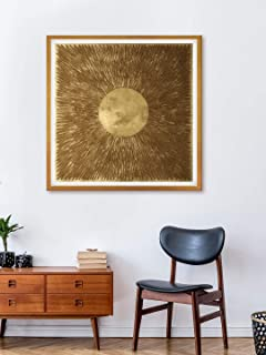 999Store Fiber wall painting paintings for living room big size abstract art Canvas Painting with frame Golden (Set of 1 2...