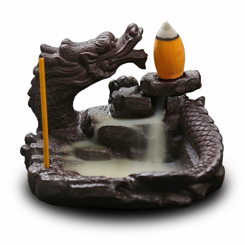 冒険家拍手する遅い(Style6) - OTOFY Mythical Dragon Backflow Incense Holder Figurine Incense Cone Holder Gothic Home Decor