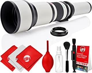 Opteka 650-1300mm High Definition Super Telephoto Zoom Lens for Sony A-Mount Digital SLR Photo Cameras + Premium 8-Piece C...