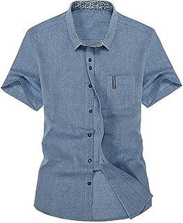 c2bbf291cd57e New Men S Linen Shirt Slim Fit Men S Fashion Casual Short-Sleeved Shirt