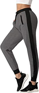 Pantalones Chándal Raya Mujer Algodón Largos Pantalon para Deportivo Yoga Fitness Jogger Casual