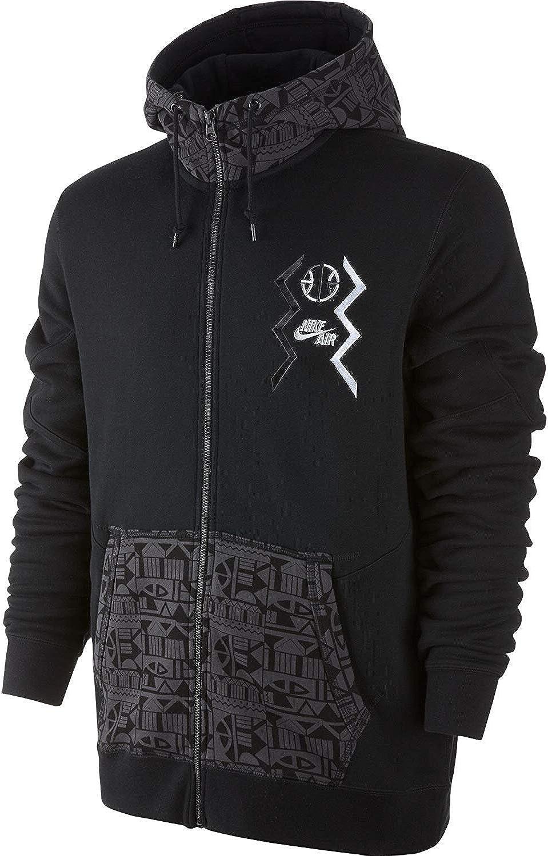 Nike Basketball Pivot Full-Zip Men's Hoodie Black Grey-White 612859-010