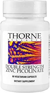 Thorne Research - Zinc Picolinate 30 Milligram (Formerly Double Strength Zinc Picolinate) - Well-Absorbed Zinc Supplement For Immune Function - NSF Certified For Sport - 60 Capsules