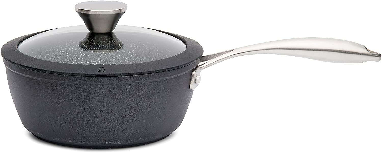 Zinel Saucepan with Extreme Non 流行 Black Aluminium 与え 20cm Stick