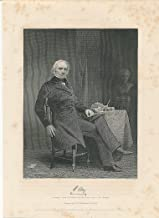 Henry Clay seated with books 1861 antique engraved historical portrait