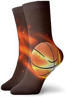 Jhonangel, Equipo de calcetines Basketball On Fire para hombres, mujeres, niños, trekking, rendimiento, exteriores 30 cm / 11.8 pulgadas