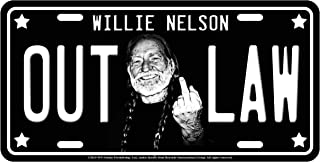 Midsouth Products Willie Nelson License Plate - Middle Finger