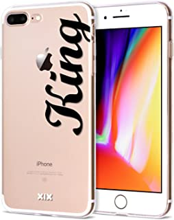iPhone 7 Plus Case Queen Slim Fit Black Shockproof Bumper Cell Phone Accessories Queen & King Design Thin Soft TPU Protective Cover for Women Apple iPhone 8 Plus Cases Luxury for Girls