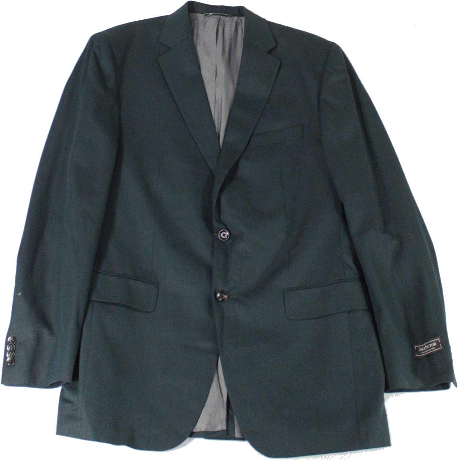 Jack Victor Mens Blazer Long Two-Button Notched Wool Blue 42