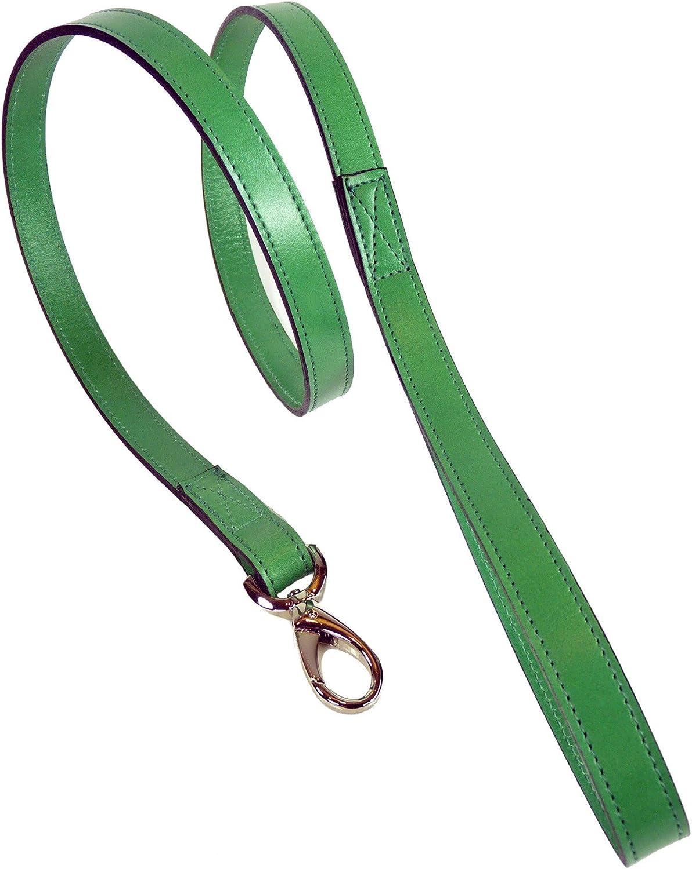 Hartman & pink 14408 Plain Nickel Plated Dog Lead, 3 4Inch, Emerald Green