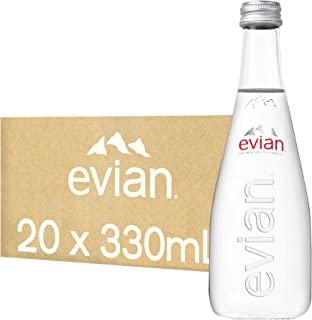 Evian Natural Mineral Water (Glass) - 20x330ml